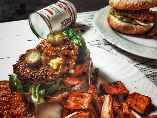 Veganer Tex-Mex Burger